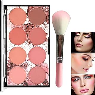 Makeup 8 Color Blush Palette، Contour and Highlight Blush Palette Matte Blush Powder Bright Shimmer Face Cosmetics Blusher Light Face Blush Palette with Blush Brush
