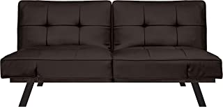 Pearington Leather Convertible Transforms to Sofa, Couch, Lounger, Bed-Durable Metal Frame and Legs, Java Futon,