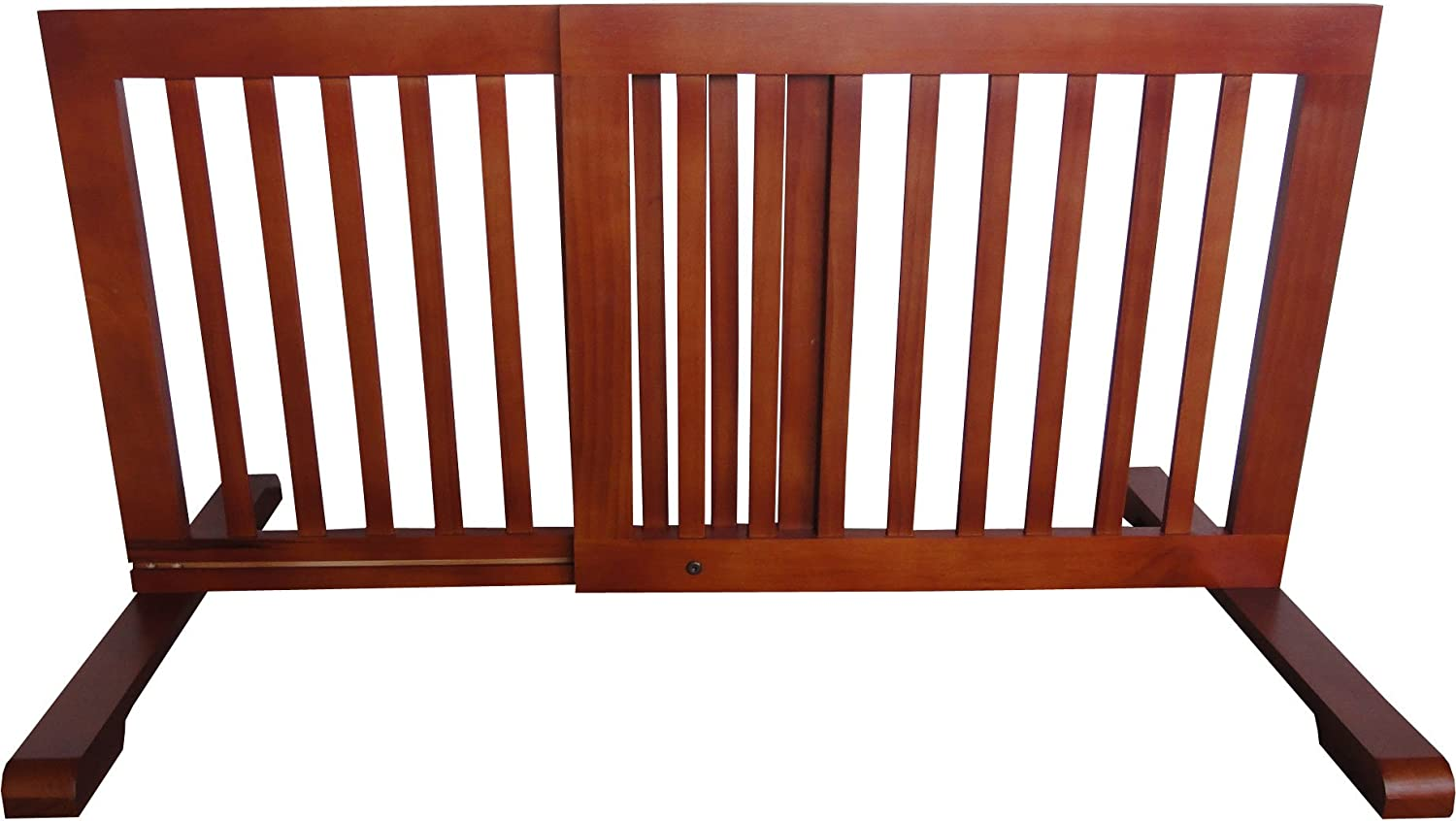 MDOG2 Free Standing Pet Gate, 23.6Inch to 39.4Inch by 20.1Inch by 21.6Inch, Light Oak