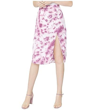 BCBGeneration Front Slit Woven Midi Skirt TUC3297613 (Lavendar Herb) Women