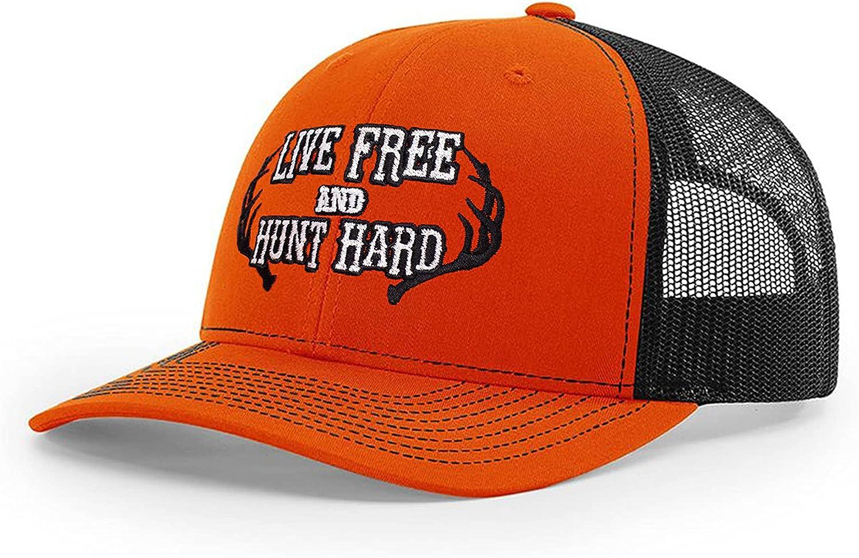 B Wear Sportswear Hunt Hard Richardson 112 Trucker Cap (Orange/Black)