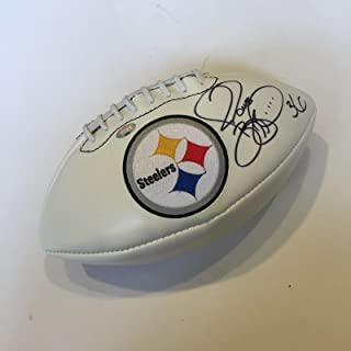 Jerome Bettis Signed Pittsburgh Steelers Super Bowl Football With JSA COA