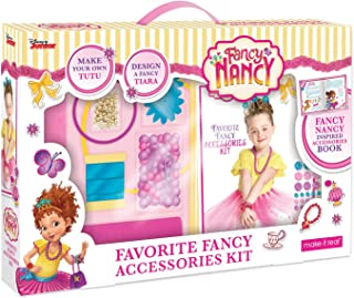 Make It Real - Disney Fancy Nancy Favorite Fancy Accessories Kit. DIY Craft and Jewelry Making Kit for Little Girls. Guides Kids to Create Disney Inspired Beauty Accessories from Fancy Nancy.