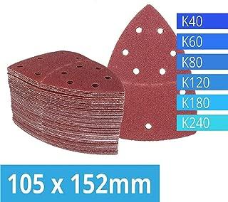 ZCZSDXB sandpaper-Pack of 120 Hook and Loop Sanding Sheets 105 x 152 mm Grit 20 Each of 40/60/80/120/180/240 Sandpaper for Multi Sander