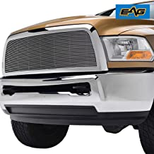 EAG Chrome Billet Grille+Shell Compatible with 10-12 Dodge Ram 2500/3500