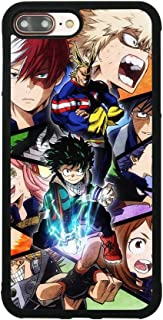 My Hero Academia Anime Manga Comic Theme Case for iPhone 7 Plus/8 Plus (5.5 Inch) Comic TPU Silicone Gel Edge + PC Bumper Case Skin Protective Printed Phone Full Protection Cover