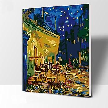 LoveTheFamily 数字油絵 数字キット塗り絵 手塗り DIY絵 デジタル油絵 40 x 50 cm ホーム オフィス装飾 - ヴァンゴッホの有名な絵画