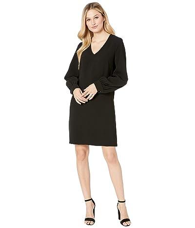 Karen Kane Blouson Sleeve Crepe Dress (Black) Women