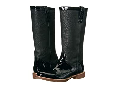 Lucchese All-Weather Waterproof Rain Boot (Black Patent) Women