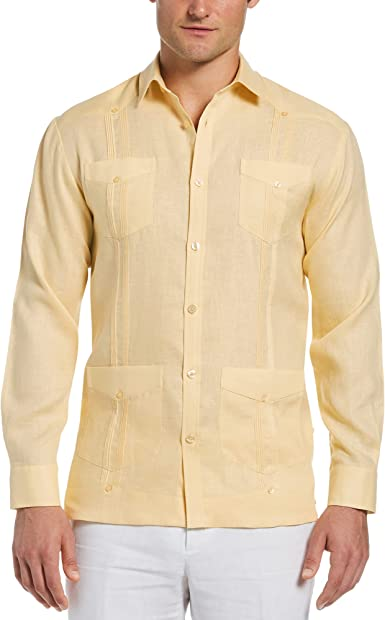 Cubavera Long-sleeve 100% Linen Guayabera Shirt Camisa de botones Hombre