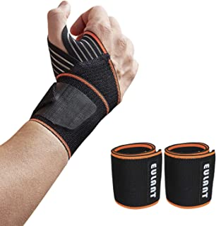 EULANT Wrist Wraps with Thumb Loops, Wrist Support Braces for Weight Lifting Xfit Powerlifting Strength Training