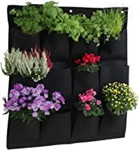 Planting Bags Hanging Plant Bags Plant Grow Bags Wall Mounted Vertical Green Grow Planter with 12 Pockets Plant Pouch Hang...