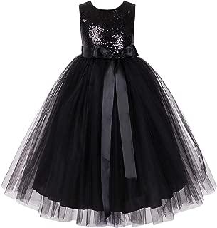 Heart Cutout Sequin Flower Girl Dress Reception Dresses Evening Gown 172seq