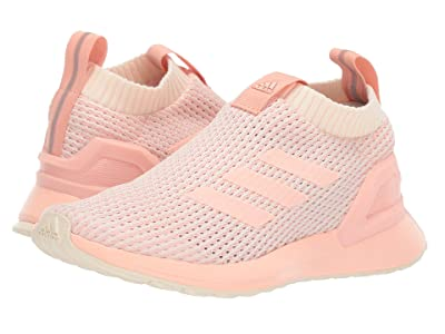 adidas Kids RapidaRun LL Knit (Little Kid) (Glow Pink) Girls Shoes