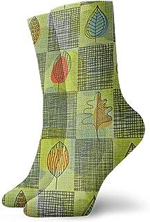 N / A, Calcetines verdes, retro, para hombres, mujeres, niños, trekking, potencia, exterior, 30 cm