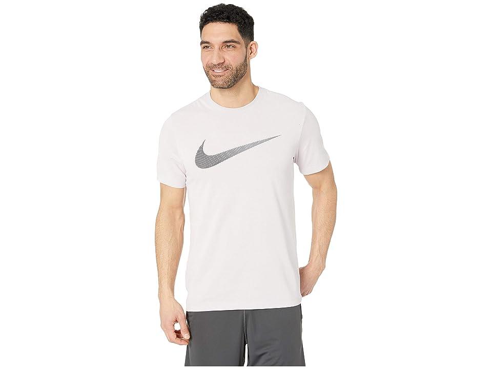 Nike Dry Tee Dri-FITtm Cotton 2 Year Swoosh (Pink Foam/Pale Pink/Black) Men