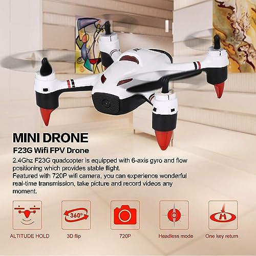 bajo precio del 40% FairytaleMM F23G 2.4G 2.4G 2.4G RC Mini Quadcopter FPV con la cámara 720P HD WiFi Flujo Posicionamiento blancoa  bienvenido a elegir