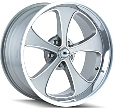 Ridler Style 645 Grey Wheel with Machined Face/Polished Lip (18x8