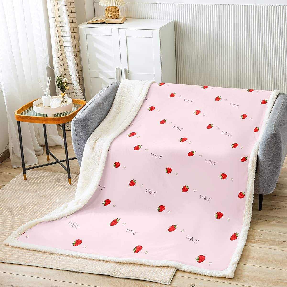 Castle Finally resale start Fairy Red Strawberry Cute Throw Blanket Fruits Max 67% OFF