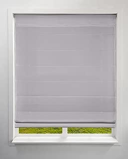 Arlo Blinds Light Filtering Fabric Roman Shades, Color: Grey, 27.5