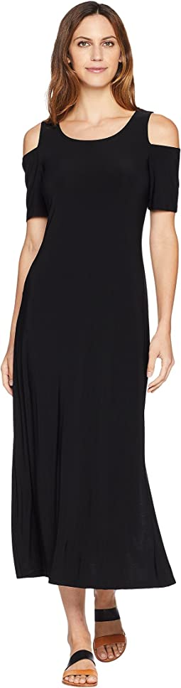 Celine Cold Shoulder Maxi Dress with Side Slit