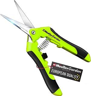 Mueller UltraPrecise Garden Snips, 6.5 inch Comfortable Garden Scissors with Safety Lock, Ultra Sharp Stainless Steel Blad...