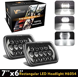 Partsam 5x7 LED Headlights 7x6 Sealed Beam Angel Eyes DRL Hi/Lo H6054 Compatible with Jeep Wrangler YJ Cherokee XJ, Toyota 4Runner Tacoma, Chevy Blazer Express Van (2PCS)