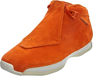 Jordan Men's Air 18 Retro, Campfire Orange/Campfire Orange-SAIL