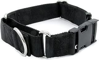 2 Inch Width Martingale w/Buckle Dog Collars - Heavy Duty Nylon (2