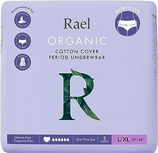 Rael Organic Disposable Overnight Underwear - Panty Style, Wearable Period Underwear Pads, Postpartum, Teen, Maximum Cover...