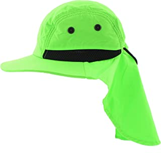 JFH GROUP Outdoor Packable Wide Brim Sun Hat w/Neck Flap Adjustable Headband - Adult and Kids Sizes