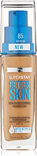 Maybelline New York Superstay Better Skin Foundation, Sun Beige, 1 Fluid Ounce