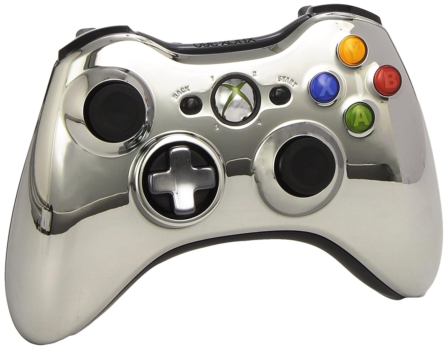 Official Xbox 360 Wireless Silver Chrome Controller - Special price Max 67% OFF