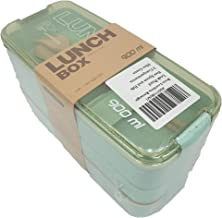 Deal Noon Bento Lunchbox (rectangle) for Adult & Kids - Asian Food Container - Perfect for Healthy Lunches in School - Leakproof Bento Box With Dividers Compartment Organizer (Mint Green)