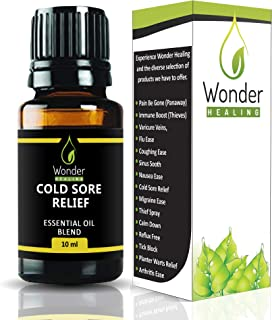 Cold Sore Relief – All Natural Essential Oil Blend to Relieve Cold sores, blisters, Herpes –Ready to use by wonder healing
