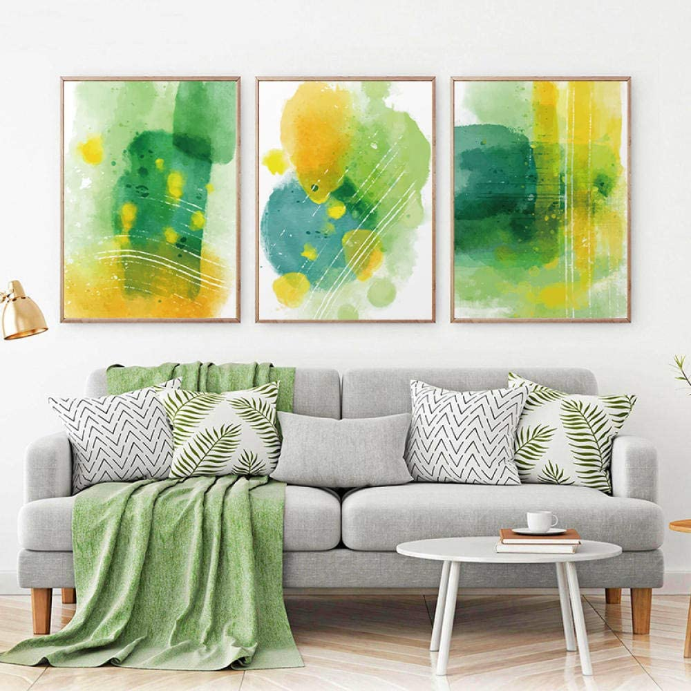 zuomo Lowest price challenge Nordic Modern Abstract Geometric Poster Spots Yellow Green Luxury