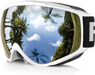 011c8933fe Gafas de Esquí,Findyway Máscara Gafas Esqui Snowboard Nieve Espejo para  Hombre Mujer Adultos Juventud