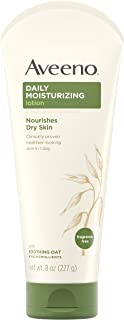 Aveeno Daily Moisturizing Body Lotion with Soothing Oat and Rich Emollients to Nourish Dry Skin, Fragrance-Free, 8 fl. oz ...