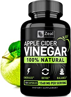 100% Natural Raw Apple Cider Vinegar Pills from The Mother (1560mg | 120 Capsules) Unfiltered Apple Cider Vinegar with Cayenne Pepper for Fast Weight Loss Cleanse Appetite Suppressant, Bloating Relief