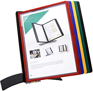TARIFOLD Desktop Reference and Display System with 10 QuickLoad Letter-Size Pockets in Assorted Colors (EZD791)