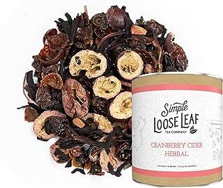 Simple Loose Leaf - Cranberry Cider Herbal Tea - Premium Loose Leaf Herbal Tea (4 oz) - Caffeine Free - Warm, Mulled Blend...