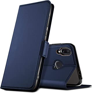 Kugi For Xiaomi Redmi Note 7 case, Shockproof Flip case Kickstand with Credit Card Slots case for Xiaomi Redmi Note 7/ Redmi note 7 pro Smartphone. Blue