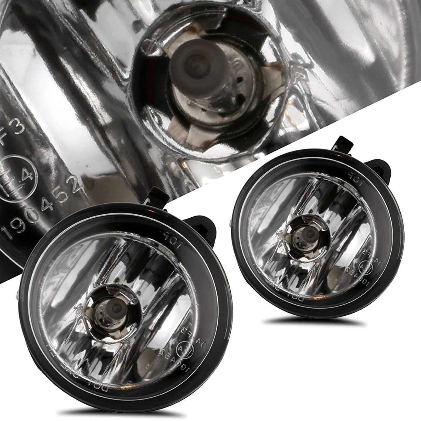 Scitoo Fog Light Assembly Kit fit BMW X3 2011 2012 2013 2014 2015 2016 2017 Fog Lamp With Clear Lens In Pair