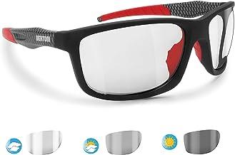 BERTONI Photochromen zelfkleurende windbescherming sportbril fietsen - skiën - lopen - golf - Alien F automatische ruitkle...