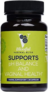 V-Blissful Boric Acid Suppositories | 100% Natural Vaginal Suppositories for Yeast Infection and Bacterial Vaginosis Treatment | Made by Your Blissful (20 Count, 500mg)