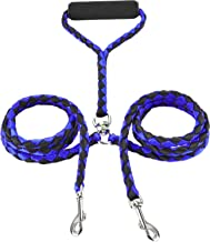 BellaBetty Dual Double Dog Leash No Tangle Coupler Nylon Leash for 2 Large/Small Dogs