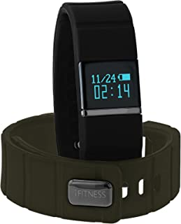 iTouch iFitness Bluetooth Smart Watch with 2 Sports Bands, Modern Clock, Calorie Tracker, Step Counter, Fitness and Activity Tracking, Remote Camera Function, Sleep Monitor
