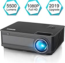 Projector, WiMiUS P18 Upgraded 5500 Lumens LED Movie Projector Support 1080P Full HD 200