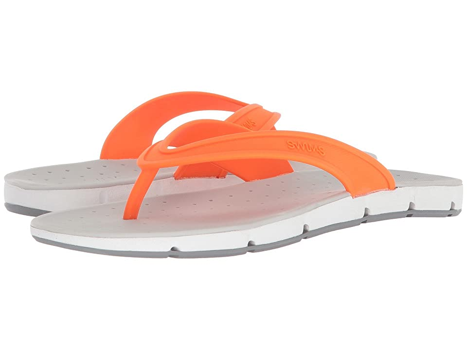SWIMS Breeze Thong Sandal (Orange/White/Gray) Men