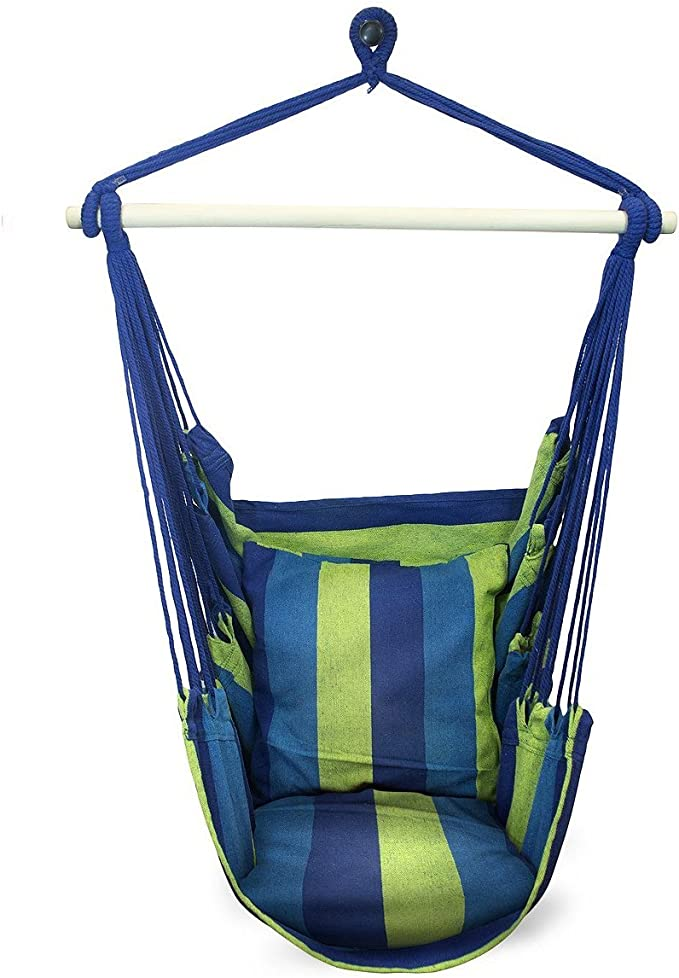 Sorbus Hanging Rope Hammock Chair Swing Seat – Perfect For Single Ones